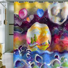 Ginette Fine Art 'Into The Future' Shower Curtain
