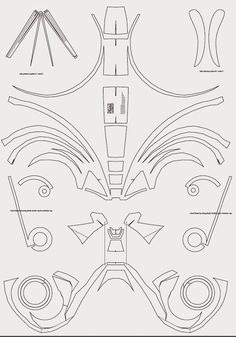 Deadpool Semi-Rigid Costume Mask DIY (PDF template) | Pinterest ...