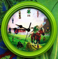 The Legend Of Zelda Ocarina of Time Wall Clock by zuzusforall, $15.00 First Video Game, Legend Of Zelda, Nerd, Cool Stuff, Clock, Etsy, Future, Bedroom, Random