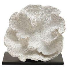 palecek white sponge coral
