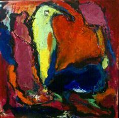 Maleri 25x25. Fugl Fønix