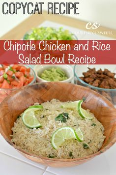 CopyCat Recipe Chipotle Mexican Grill Chipotle Chicken and Rice Salad Bowl Recipe