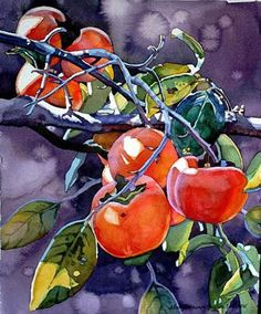This is the other Mary Sorrows Hughes print I have hanging in my office Watercolor Fruit, Fruit Painting, Watercolor Leaves, Watercolor And Ink, Watercolor Paintings, Watercolors, Vegetable Illustration, Tea Art, Color Pencil Art