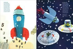 Paper Mache Rockets and Spaceships from old Martha Stewart Kids Magazine. Diy Projects To Try, Projects For Kids, Craft Projects, Project Ideas, Craft Ideas, School Holiday Crafts, School Holidays, Craft Activities For Kids, Crafts For Kids