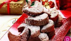 Κουραμπιέδες με σοκολάτα και φουντούκια,  από την  καταπληκτική Ντίνα Νικολάου! Christmas Time, Merry Christmas, Xmas Food, Greek Recipes, Muffin, Cooking Recipes, Cookies, Chocolate, Breakfast