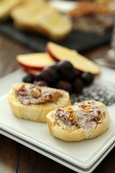 Blue Cheese, Walnut, and Port Wine Pâté is an elegant step up from the holiday port wine cheese ball. Delicious and addictive. Save this recipe for your next holiday party!