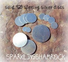 sterling silver metal discs blanks for metal jewelry stamping - 22g 3/4 inch -FIVE pack. $28.50, via Etsy.