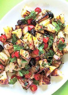 Low FODMAP Recipe and Gluten Free Recipe - Roast chicken with potato salad - http://www.ibs-health.com/roast_chicken_potato_salad.html