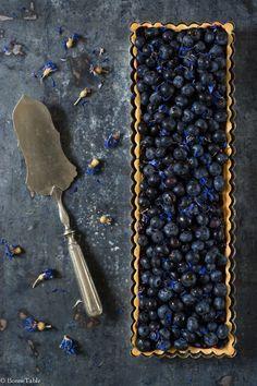 Tarte Amandine aux Myrtilles @ BonneTable #foodphotography