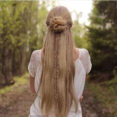 Beautiful mixed braids by @aurorabraids ❤️