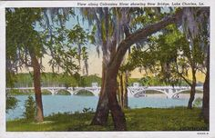 Ole Bridge across Calcasieu River at the west end of LAke Charles.  No longer exists