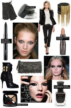 Makeup and accessory ideas for any rocker girl.