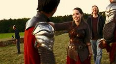 """""""Skandar was the funniest because he's thirteen years old, he made a great pretense of trying to avoid any sign of physical affection and we would just periodically yell """"Group Hug"""" and all jump on. Narnia Cast, Narnia 3, Movies Showing, Movies And Tv Shows, Skandar Keynes, William Moseley, Edmund Pevensie, Georgie Henley, Prince Caspian"""