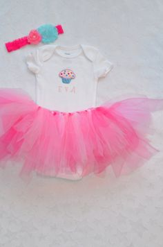 Baby Girl 1st Birthday Outfit by ChildishDreams on Etsy, $29.50