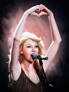 Taylor Swift Painting by ewiskan