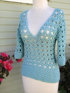 The Persimmon Pullover.  Find the free crochet pattern from Lion Brand Yarn, here on my blog: positivelylace.com!
