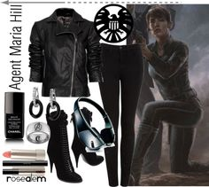 Agent Maria Hill, created by rosealem on Polyvore