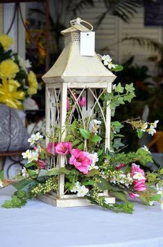 48 Stunning Spring Floral Arrangements Silk Center Pieces Ideas - HOOMDESIGN - Cool 48 Stunning Spring Floral Arrangements Silk Center Pieces Ideas Informations About 48 Stunning - Rosen Arrangements, Silk Floral Arrangements, Wedding Flower Arrangements, Wedding Flowers, Lantern Centerpieces, Lanterns Decor, Centerpiece Ideas, Decorating With Lanterns, Lanterns With Flowers