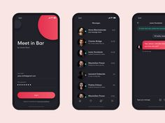 Hey Guys, this app can be only used in James Dean bar, you may chat with another people in bar and order them drink etc. I designed it in dark ui because it will be mostly used in night. Game Design, Graphisches Design, App Ui Design, Dashboard Design, Flat Design, Icon Design, Ui Design Mobile, Mobile Application Design, Ui Design Principles