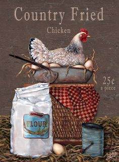 """""""Country Fried Chicken""""  --  by Gloria West"""