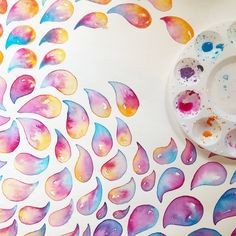 """watercolor drops"" by BRITcolors Handmade colorful watercolor painting  Show some love and RePin!"