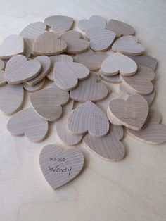Wedding Guest Book Alternative - Keepsake Box (50 hearts). $60.00, via Etsy. Great idea if you don't want to purchase this you could always buy wood hearts and box, and make your own sign.