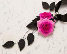 Black  сhoker. Polymer clay jewelry. Black by JewelleryForWorld