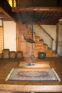 Japanese interior-Nagano, This is exactly what I want to build. Japanese Style House, Traditional Japanese House, Japanese Homes, Japanese Mansion, Architecture Design, Japanese Architecture, Sustainable Architecture, Residential Architecture, Japanese Interior