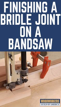 When it comes to wood joinery, bridle joints are incredibly strong. One way to make the bridle of the joint is on the bandsaw. It takes correct setting of the fence, scrap pieces, and test cuts, but once you've got it set up you'll find that it's easy to make a great fitting joint.