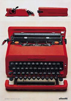 Olivetti, storia di un'impresa - Macchina per scrivere portatile Valentine