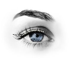 Crystal Eyeliner. This Marbella reusable cat's eye tattoo eyeliner has Swarovski crystals for added sparkle.