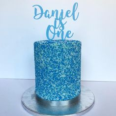 Double Barrel Sprinkles 1st Birthday Cake