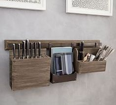 Small Spaces | Pottery Barn I don't have a lot of counter or drawer space si this would be a great way to store my knives and silverware #mypotterybarn
