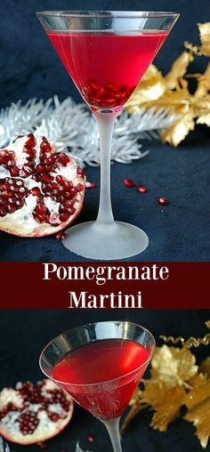 This sweet and tart martini is made with pomegranate liqueur vodka honey liqueur and pomegranate juice. This sweet and tart martini is made with pomegranate liqueur vodka honey liqueur and pomegranate juice. Pomegranate Cocktails, Fruity Cocktails, Vodka Drinks, Cocktail Drinks, Yummy Drinks, Summer Cocktails, Beverages, Recipes, Drink Recipes