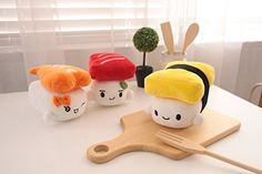 """Japanese Food Sushi small Cushion Gift Plush Toy Decoration Pillow Hit Gift Toy ~Egg 5.9"""": Amazon.ca: Home & Kitchen"""