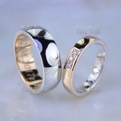 7efd1f2a6038 Классические обручальные кольца с гравировкой и бриллиантами инверсия  мужское внутри красное золото женское снаружи (Вес