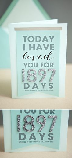 "DIY ""Today I Have Loved You For..."" Card + with free printable and easy steps! Anniversary gift ideas #anniversarygifts"