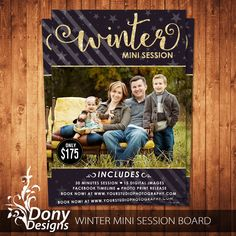 Winter Mini Session Template Photography Marketing board - Photoshop template Instant Download - BUY 1 GET 1 FREE: ms-520 by DonyDesigns on Etsy