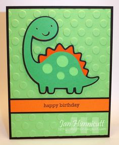 I have a few more boys birthday cards I made at the beginning of the month for our church to share with you today.  One of my stamping frie...