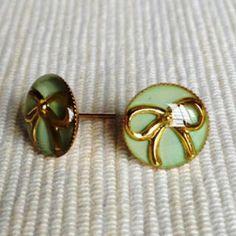 Resin Ribbon Earrings (Mint) One Size China Jewelry, Wholesale Jewelry, Ribbon, Mint, Brooch, Stud Earrings, Resin, Tape, Peppermint