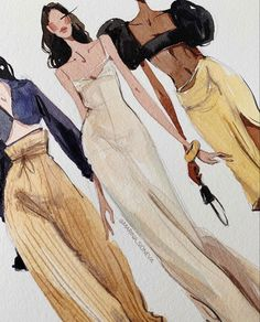 Fashion Model Sketch, Fashion Design Sketchbook, Fashion Design Portfolio, Fashion Design Drawings, Fashion Sketches, Vogue Fashion, Fashion Art, Croquis Fashion, Clothing Sketches