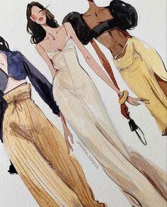 Fashion Model Sketch, Fashion Design Sketchbook, Fashion Design Portfolio, Fashion Design Drawings, Fashion Sketches, Clothing Sketches, Dress Sketches, Student Fashion, School Fashion