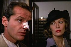 Chinatown~ This neo-noir classic stars Jack Nicholson, Faye Dunaway and John Huston in a story about the seedy corruption behind securing land and water rights for southern California during the 1930s. A beautiful woman hires private eye Jake Gittes to look into her husband's possible infidelity, drawing him deeply in to her web of treachery. But after learning he's been duped, Gittes becomes all the more determined to get to the source of the scheme.
