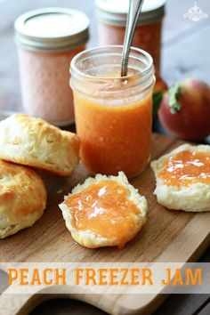Peach Freezer Jam.  Freezer jams are so good, really easy and still hold on to that fresh fruit taste.
