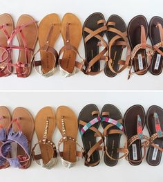 Sandal Refashions...we all have that pair of sandals we've worn forever!!!  Here are a few ways to spruce them up. Flip Flop Sandals, Flat Sandals, Shoes Sandals, Fade Styles, Cute Shoes, Me Too Shoes, New Shoes, Shoes Online, Diy Fashion