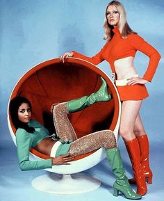Moon Zero Two (1970) welcomes you to the future! Futuristic girls in gogo boots