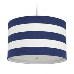 Blue Striped Pendant Light... cute for a beach house porch/sun room.. and I'm sure it could be made for much cheaper