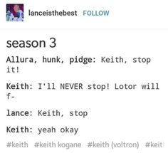 Lance is Keith's impulse control anD IM STILL DYINGGG
