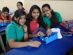 An all girls team preparing the Aqua bot with the help of the engineers for the competition #Aqua #Robotics #technology #School #competition