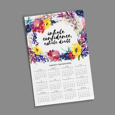 11x17 Wall Calendar - Wildflower